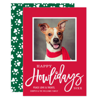 Happy Howlidays | Pet Photo Card
