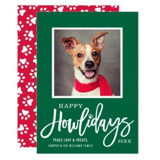 Happy Howlidays | Pet Photo Card