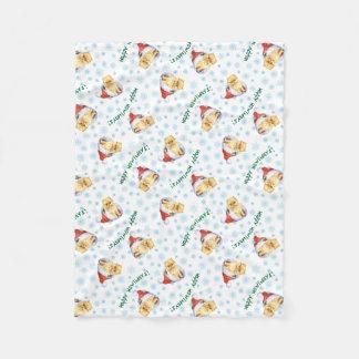 Happy Howlidays Pomeranian Fleece Blanket