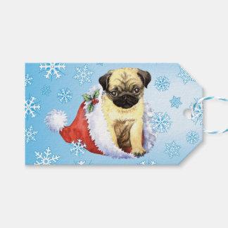Happy Howlidays Pug Gift Tags