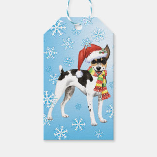 Happy Howlidays Rat Terrier Gift Tags