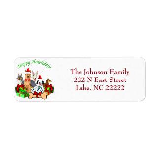 Happy Howlidays Return Address Labels