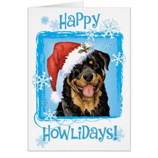 Happy Howlidays Rottweiler Card