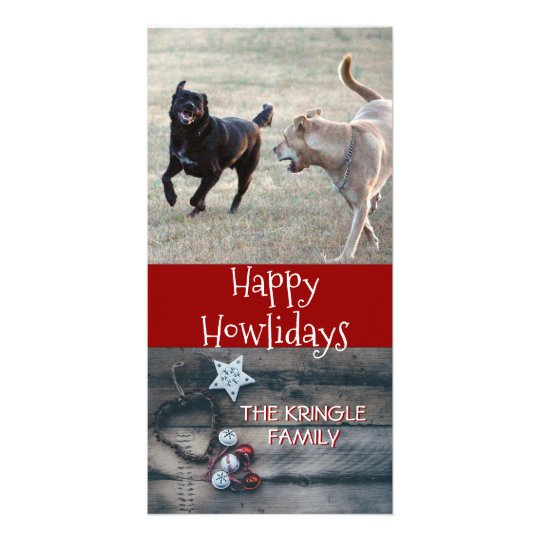 Happy Howlidays Rustic | Dog Christmas Photo Card