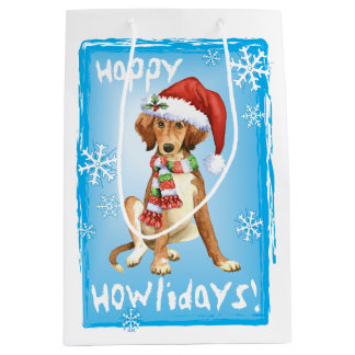 Happy Howlidays Saluki Medium Gift Bag