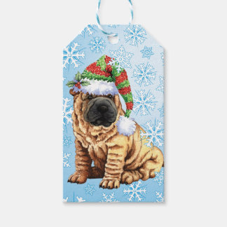 Happy Howlidays Shar-Pei Gift Tags