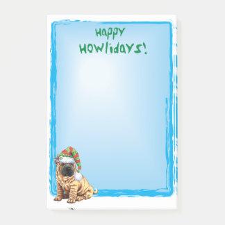 Happy Howlidays Shar-Pei Post-it Notes