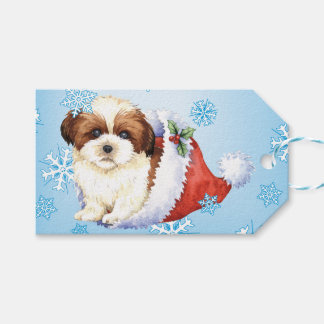 Happy Howlidays Shih Tzu Gift Tags