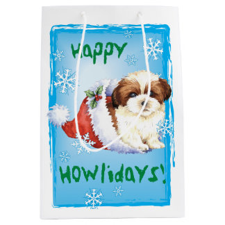 Happy Howlidays Shih Tzu Medium Gift Bag
