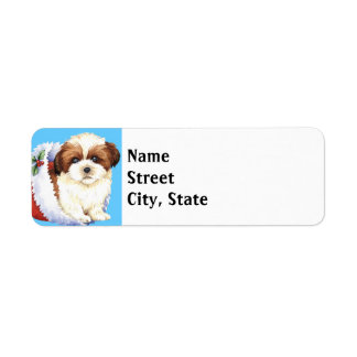 Happy Howlidays Shih Tzu Return Address Label