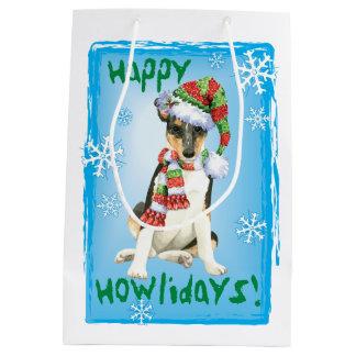 Happy Howlidays Smooth Collie Medium Gift Bag