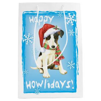 Happy Howlidays Smooth Fox Terrier Medium Gift Bag