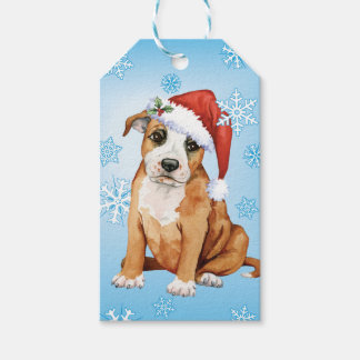 Happy Howlidays Staffordshire Bull Terrier Pack Of Gift Tags