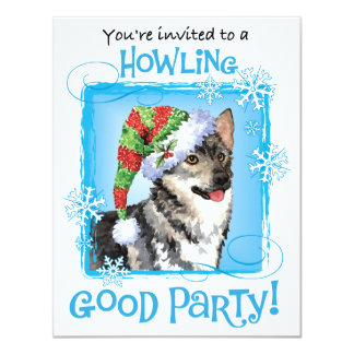 Happy Howlidays Swedish Vallhund Card