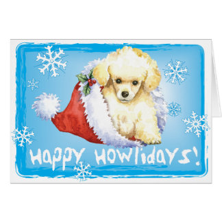 Happy Howlidays Toy Poodle Card