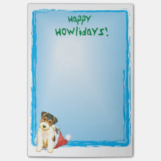 Happy Howlidays Wire Fox Terrier Post-it® Notes