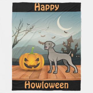 Happy Howloween Weimaraner Fleece Blanket