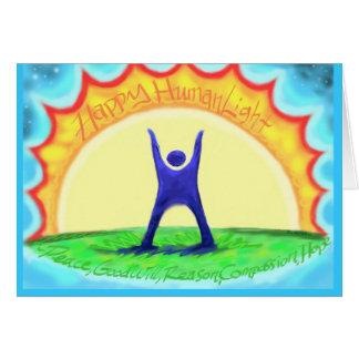 Happy HumanLight! HL description on back; Colorful Card