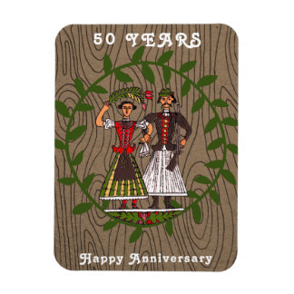 Happy Hungarian Couple 50 Years Magnet
