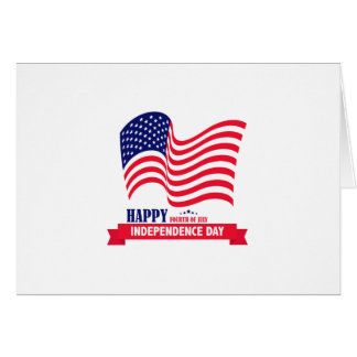 Happy Independence  Day 4 th July American Flag Card