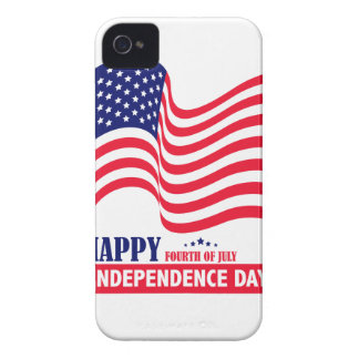 Happy Independence  Day 4 th July American Flag iPhone 4 Case-Mate Cases
