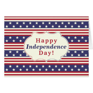 Happy Independence Day 4th of July Stars Stripes Card