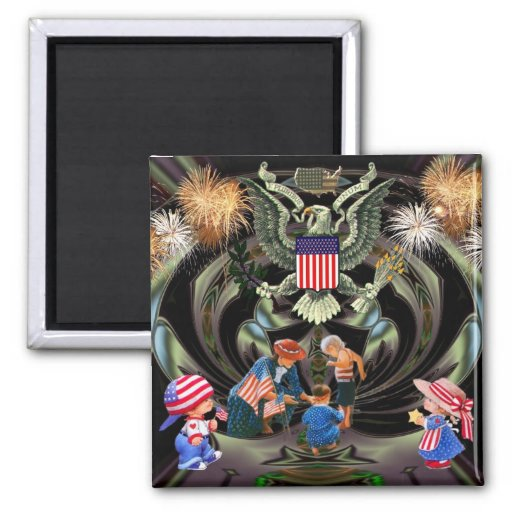 Happy Independence Day Celebration Fridge Magnet