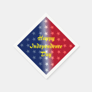 Happy Independence Day Disposable Napkins