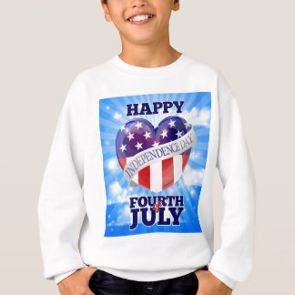 Happy Independence Day Fourth of July Sweatshirt