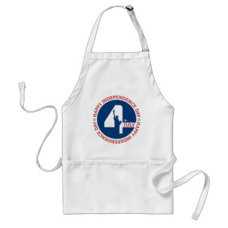 Happy Independence day liberty statue silhouette Standard Apron