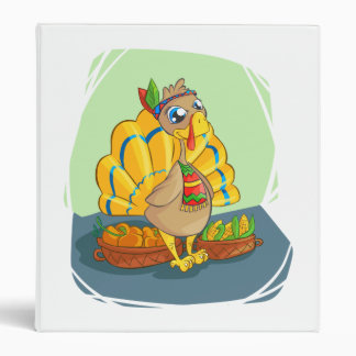 Happy Indian Turkey ready for thanksgiving Binders