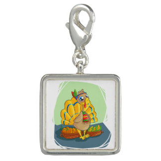 Happy Indian Turkey ready for thanksgiving Photo Charms
