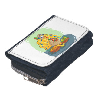 Happy Indian Turkey ready for thanksgiving Wallet