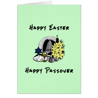 Happy Interfaith Easter and Passover Card