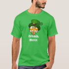 Happy Irish Colour British Flag in Leprechaun Hat T-Shirt