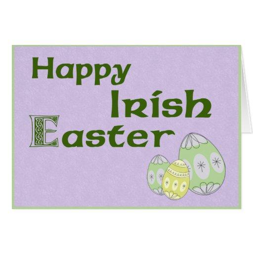 Happy Irish Easter Purple Greeting Card