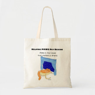 Happy is the house that shelters a friend tote bag