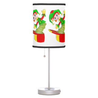 Happy jack in the box table lamp