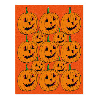 Happy Jack o Lantern Cartoon Pattern Post Cards