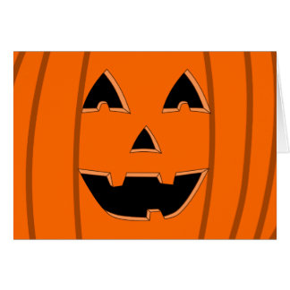 Happy Jack O Lantern Face Cartoon Greeting Card