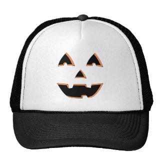 Happy Jack O Lantern Face Cartoon Trucker Hats