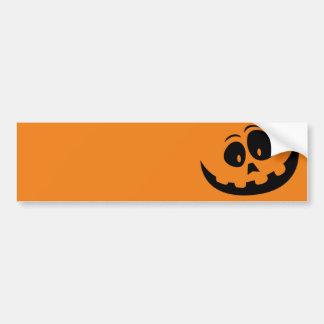 Happy Jack-O'-Lantern Pumpkin - Customize Bumper Sticker