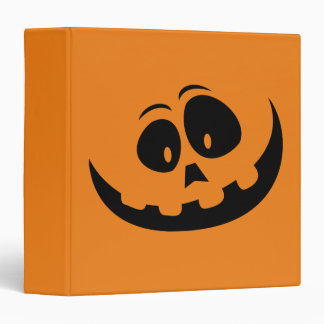 Happy Jack-O-Lantern Pumpkin Face - Customize 3 Ring Binder