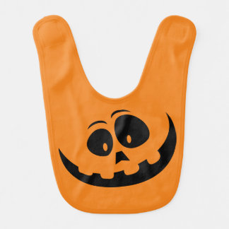 Happy Jack-O-Lantern Pumpkin Face - Customize Bib