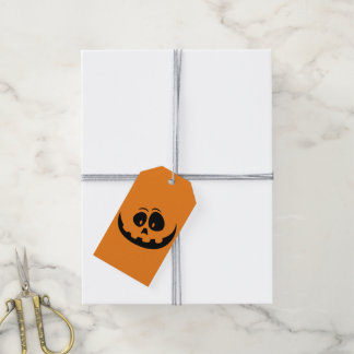 Happy Jack-O-Lantern Pumpkin Face - Customize Pack Of Gift Tags