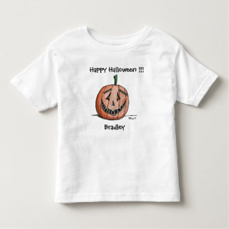 Happy Jack O Lantern Short Sleeve Toddler T shirt