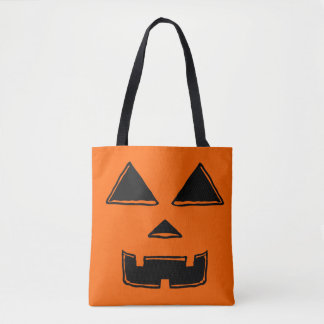 Happy Jackolantern Face Tote Bag