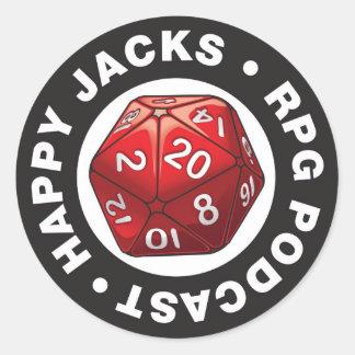 Happy Jacks d20 Logo Sticker