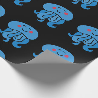 happy jelly fish wrapping paper