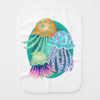 Happy Jellyfish Burp Cloth